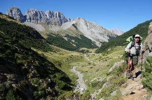 Barry climbing petrafitcha ridge behind