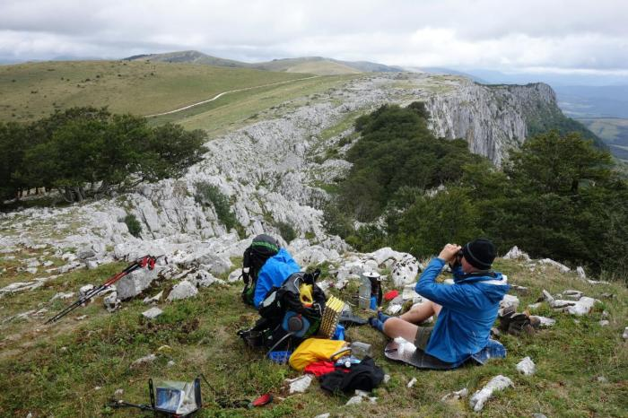 lunch on limestone crags