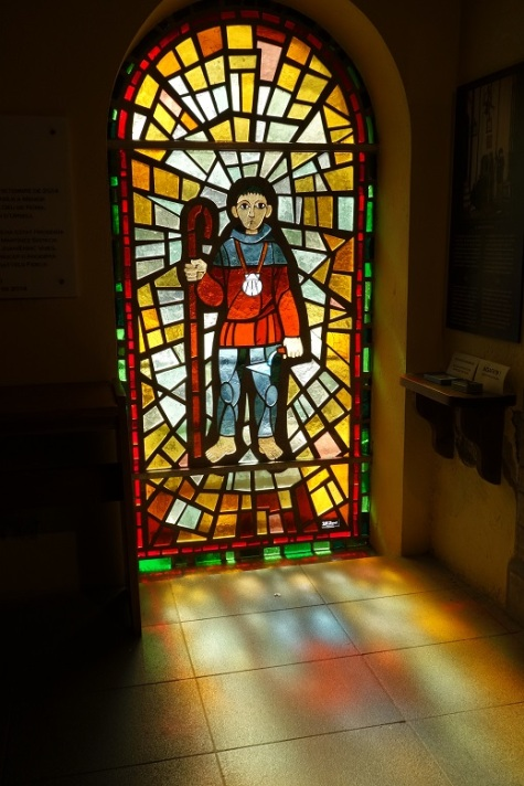 Pilgrim stained glass