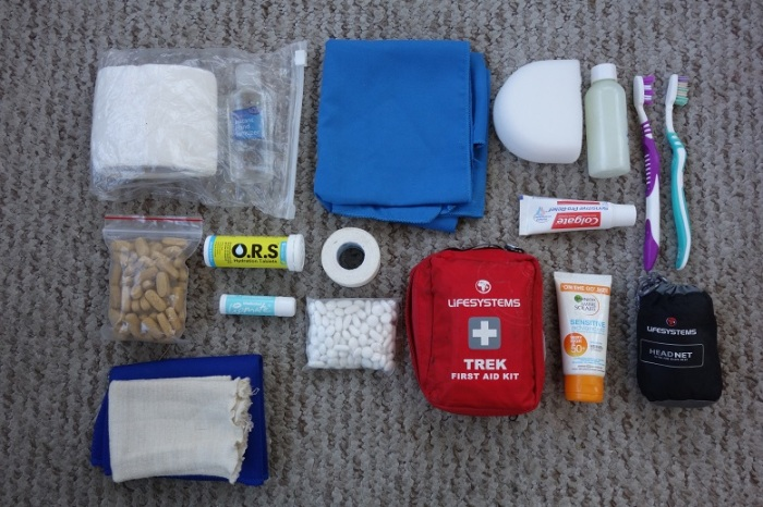 First aid and hygiene kit